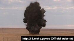 Подрыв авиабомбы в Джанкойском районе (иллюстрационное фото)