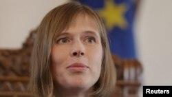 Էստոնիայի նորընտիր նախագահ Կերստի Կալյուլայդը, Տալլինն, 3-ը հոկտեմբերի, 2016թ․