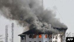 Пожар в здании. Иллюстративное фото.