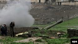 Позиції вірменських військових у Нагірному Карабасі, 3 квітня 2016 року
