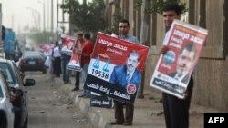 مؤيدون لمرشح الإخوان المسلمين محمد مرسي في القاهرة