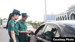 Сотрудники узбекской милиции. Ташкент.