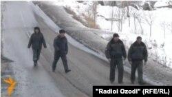 На кыргызско-таджикской границе.