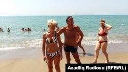 Antalyada rus turistlər