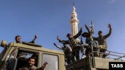 Сирійські військові у Пальмірі, 27 березня 2016 року