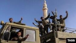 Pjesëtarë të ushtrisë së Sirisë
