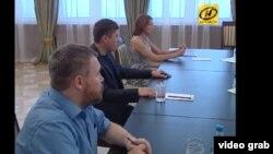 «Віце-прем'єр» угруповання «ДНР» Андрій Пургін на зустрічі у Мінську, 1 вересня 2014