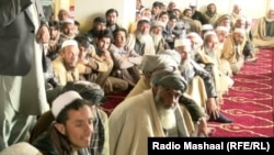 FILE: An anti- Taliban gathering in Logar in March.