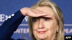 Американската државна секретарка Хилари Клинтон.