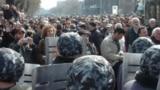 Противостояние силы полиции и демонстрантов в Ереване, 1 марта 2008 г․