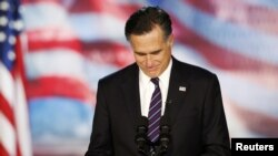 ԱՄՆ - Միթ Ռոմնին ելույթ է ունենում` ընդունելով իր պարտությունը նախագահական ընտրություններում, Բոսթոն, 7-ը նոյեմբերի, 2012թ.