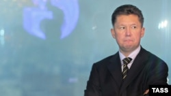 Gazprom chief executive Aleksei Miller -- no longer on top of the world?
