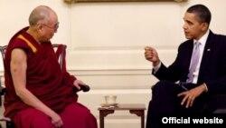 Зустріч далай-лами і Барака Обами в Білому домі, архівне фото 2010 року