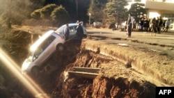 Последствия сегодняшнего землетрясения в префектуре Фукушима