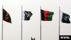 Afghanistan -- Pakistan and flags August 26, 2013