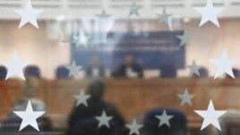 Sala de şedinţe a CEDO, Strasbourg, Franţa