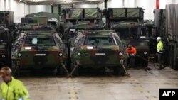 Arxiv foto: Almaniya ordusunda piyadaların zirehli döyüş maşınları.