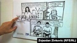 """Sa izložbe stripa """"BaukFemiNauk"""", Sarajevo"""