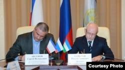 Подписание соглашения между правительствами Башкирии и Крыма. Апрель 2014