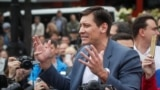 """Дмитрий Гудков на митингах протеста по """"московскому делу"""" 2019 года"""