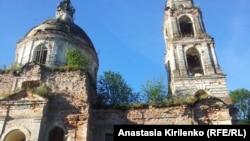 Воскресенская церковь, современное состояние, Ладино, Псковская область