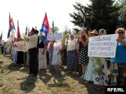 Пікет під час освячення Свято-Троїцького собору. 20 липня 2013 року