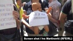 Protest roditelja nestalih beba u Beogradu, maj 2018.