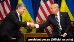 Президент України Петро Порошенко та президент США Дональд Трамп
