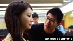 Jia Jia кытай робот кызы.