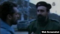 Insert iz video snimke: Goran Hadžić u Vukovaru