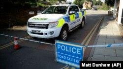 Полицейский кордон в Великобритании