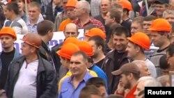 Протест шахтарів на Донбасі