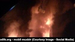Пожар в бизнес-центре в Ташкенте. 18 сентября 2015 года.