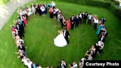 A wedding filmed by drone camera