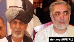 Кандидаты в президенты Афганистана Ашраф Гани (слева) и Абдулла Абдулла.