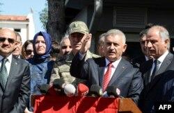 بنعلی ییلدریم، نخستوزیر ترکیه گفته است «امنیت به ۹۱ کلیومتر خط مرزی از اعزاز تا جرابلس، کاملا بازگشتهاست