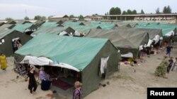 Качкындардын лагери.