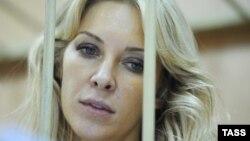 Юрист Елена Тищенко на скамье подсудимых в Тверском суде Москвы. 3 сентября 2013 года.
