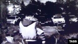 Кадр з камэры назіраньня, на якім падазраваны ў забойстве
