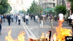 One of the street protests in Tehran that followed the June 2009 election, which the opposition claimed was marked by massive fraud.