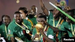 Сборная Замбии, выигравшая Кубок африканских наций в 2012 году.