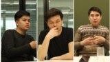 Создатели сети наблюдателей Next.kz (слева направо) Рустам Жантасов, Арсен Аубакиров, Арсен Кудабаев.
