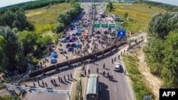 На границе между Венгрией и Сербией