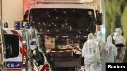 Ниццадағы шабуыл болған орын. Франция, 14 шілде 2016 жыл.