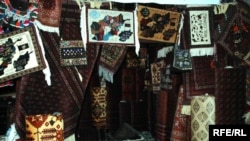 The carpet exhibition in Mazar-e Sharif.