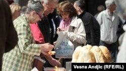 Protest penzionera u Beogradu