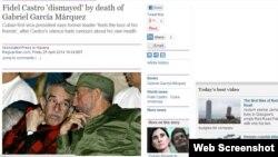 """""""Guardian"""" qəzetində məqalə - Castro dostu Marquez-in ölümündən sarsıldığını deyir."""