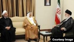 علی خامنهای در دیدار با امیر کویت در تهران