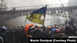 Учасники акцій протесту на Майдані, 20 лютого 2014 року