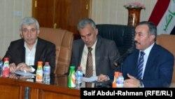 رئيس لجنة الأقاليم النيابية خالد المفرجي مع محافظ واسط مالك الدريعي في الكوت